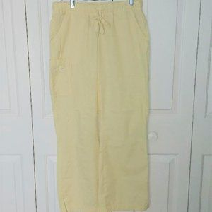 Peaches Yellow Scrub Pants